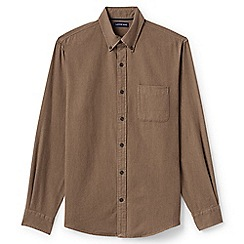 Lands' End - Brown traditional fit flannel shirt
