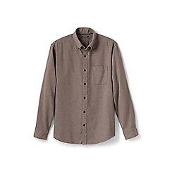 Lands' End - Beige traditional fit flannel shirt