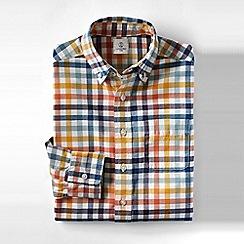 Lands' End - Blue boys' patterned washed oxford shirt