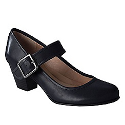 Lands' End - Black women's heeled mary jane shoes