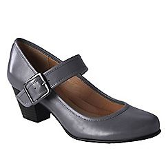 Lands' End - Grey women's wide heeled mary jane shoes