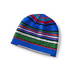 Lands' End - Blue boys' reversible beanie