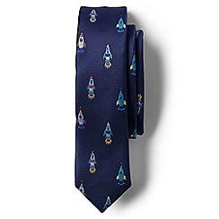 Lands' End - Boys' blue jacquard tie