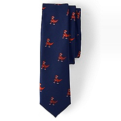 Lands' End - Boys' blue jacquard tie