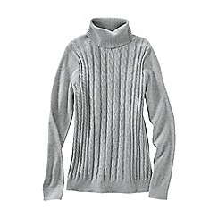 Lands' End - Grey fine gauge roll neck cable tunic