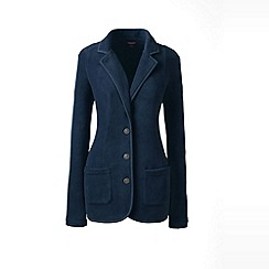 Lands' End - Blue polar fleece blazer
