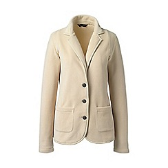 Lands' End - Beige polar fleece blazer