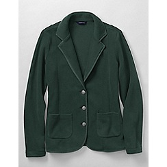 Lands' End - Green women's polar fleece blazer
