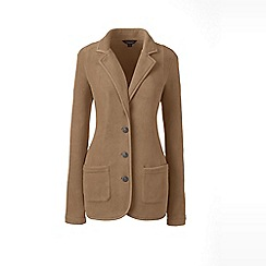 Lands' End - Brown cosy fleece blazer