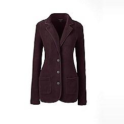 Lands' End - Red regular cosy fleece blazer