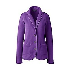 Lands' End - Purple polar petite  fleece blazer