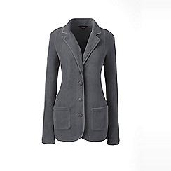 Lands' End - Grey petite everyday stretch fleece blazer