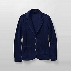 Lands' End - Blue women's polar fleece blazer