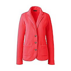 Lands' End - Red polar petite  fleece blazer