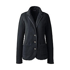 Lands' End - Black polar petite  fleece blazer