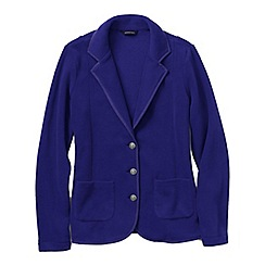 Lands' End - Purple women's polar fleece blazer