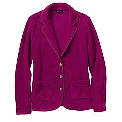 Lands' End - Pink women's polar fleece blazer