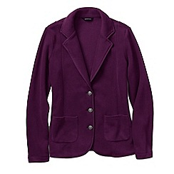 Lands' End - Red women's tall polar fleece blazer