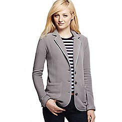 Lands' End - Grey women's tall polar fleece blazer