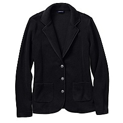 Lands' End - Black women's tall polar fleece blazer