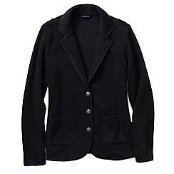 Lands' End - Black women's tall polar fleece blazer