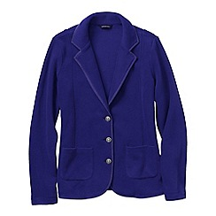 Lands' End - Purple women's tall polar fleece blazer