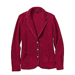Lands' End - Pink women's tall polar fleece blazer