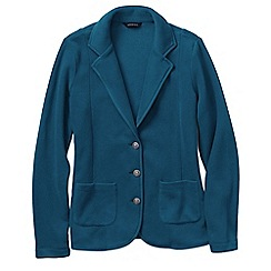 Lands' End - Blue women's tall polar fleece blazer