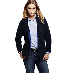 Lands' End - Blue women's fleece two tone blazer