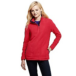 Lands' End - Pink women's polar fleece raglan polo neck