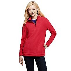 Lands' End - Pink petite polar fleece raglan polo neck