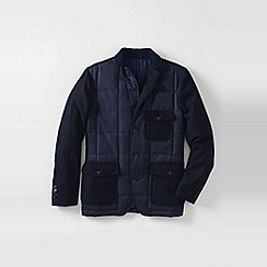 Lands' End - Blue men's elston quilted blazer