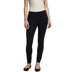 Lands' End - Black women's ponte jersey leggings