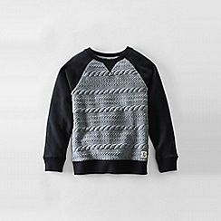 Lands' End - Grey boys' quilted sweatshirt