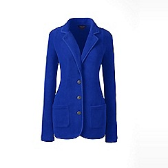 Lands' End - Blue plus polar fleece blazer
