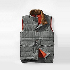 Lands' End - Grey men's  herringbone twill insulated gilet