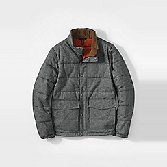 Lands' End - Grey men's herringbone twill insulated jacket