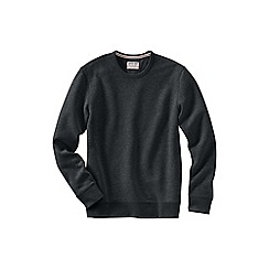 Lands' End - Grey men's serious Sweatscrew neck Sweatsirt