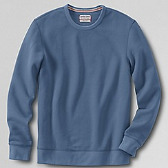 Lands' End - Blue tall  serious sweats crew neck sweatshirt