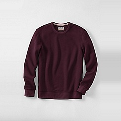 Lands' End - Red men's serious sweats crew neck sweatshirt