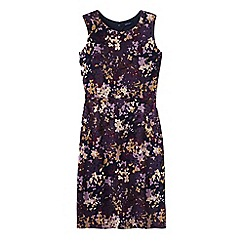 Lands' End - Purple women's pattern welt pocket shift dress