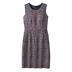Lands' End - Pink women's pattern welt pocket shift dress