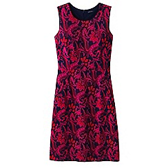Lands' End - Red pattern welt pocket shift dress