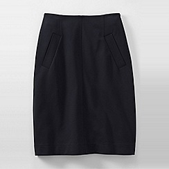 Lands' End - Black women's ponte welt pocket skirt