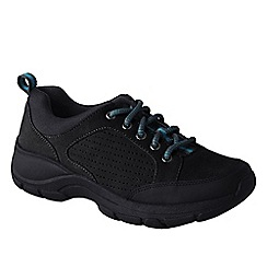 Lands' End - Black women's everyday suede lace-up shoes