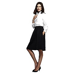 Lands' End - Black women's ponte jersey a-line skirt