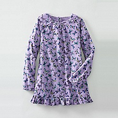 Lands' End - Purple little girls' patterned ruffle hem chambray legging top