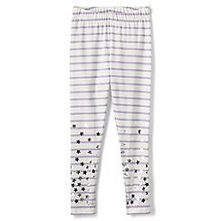 Lands' End - Purple girls' shimmer ankle length leggings
