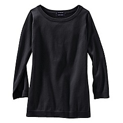 Lands' End - Black women's fine gauge supima® crew neck