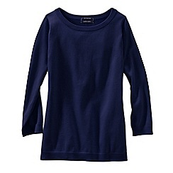 Lands' End - Blue women's fine gauge supima® crew neck